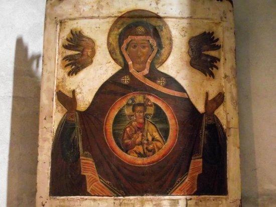 Groß St. Martin: Mosaico estilo bizantino em uma das paredes da igreja.