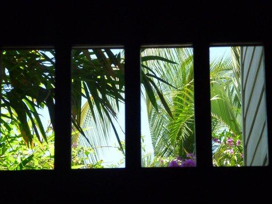 Honu Kai B&B : Condo front door window view!