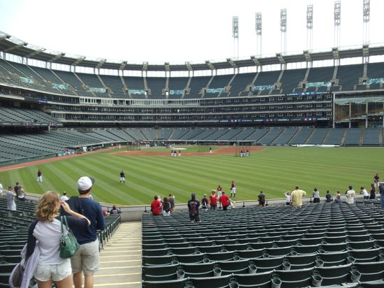 Progressive Field : If you go early, you can watch batting practice