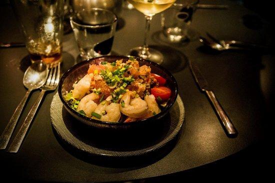L'Ô Pure Thai Style : Salade de pamplemousse aux crevettes