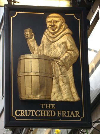 The Crutched Friar: Sign out front