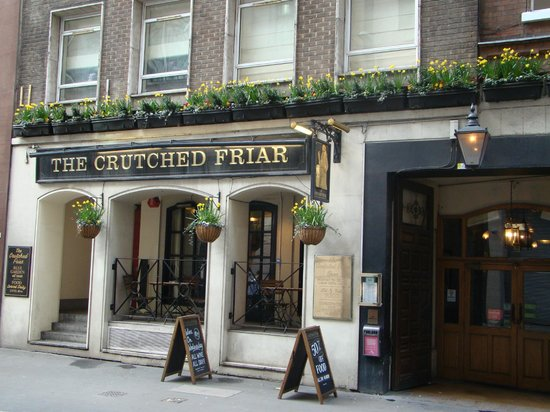 The Crutched Friar: Front of Pub
