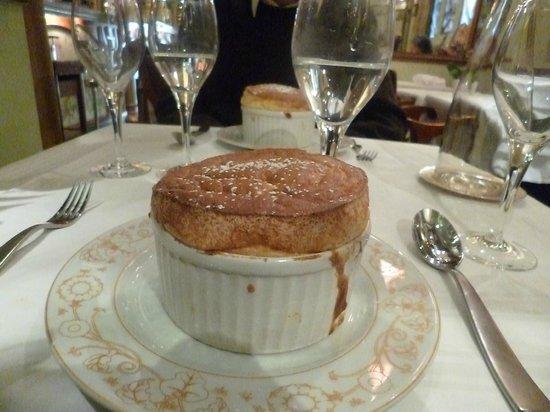 La Fermette Marbeuf: the very famous souffle