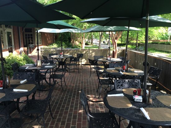 Huzzah's Eatery: Spring is here and our patio awaits you!! Here at our Huzzah! BBQ & Grille. We are located in th
