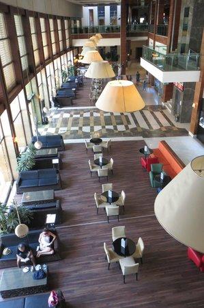 Voyage Belek Golf & Spa: Lower Lobby before new sofas arrived 1/6/14