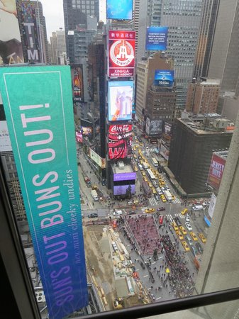 New York Marriott Marquis : view from our floor