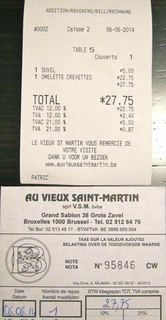 Au Vieux Saint Martin : A pricey institution with several drawbacks!
