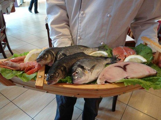 Ristorante De la Ville : fresh fish just delivered