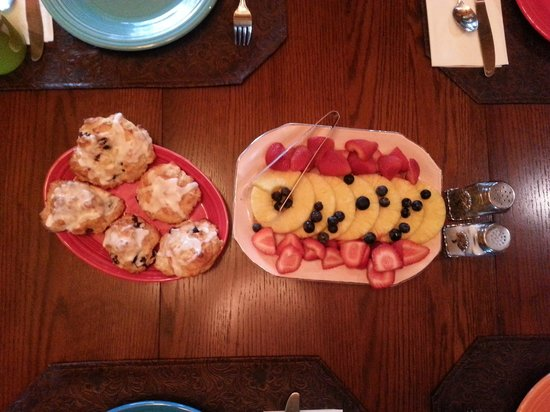 Lazy Days Bed and Breakfast: Lemon Blueberry Scones and Fresh Fruit