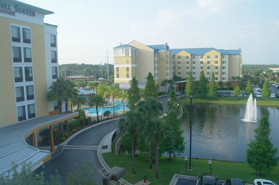 SpringHill Suites by Marriott Orlando at SeaWorld: Exterior - looking towards Fairfield Inn next door (shared pool)