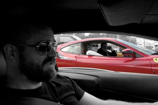 GTA Exotics: Shooting a Lamborghini Murciélago from a Ferrari F430