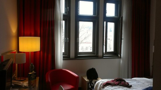 Park Inn Hotel Prague: Huge windows with a view of the surrounding city.