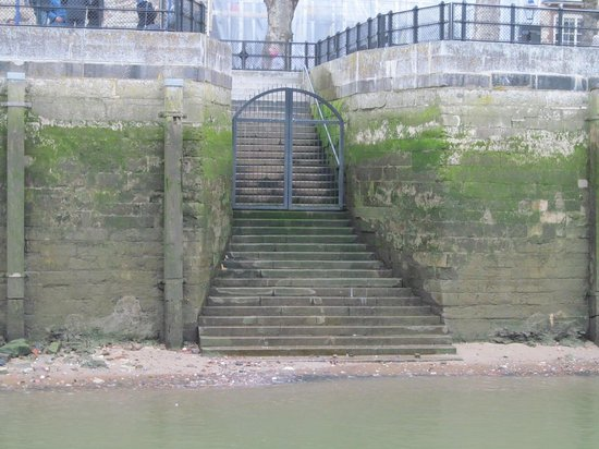 Thames River: A landing and stairway onto the Thames