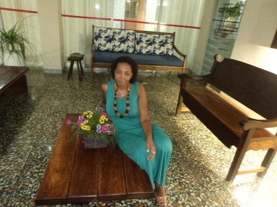 Fazendo pose no Hotel Sol Barra