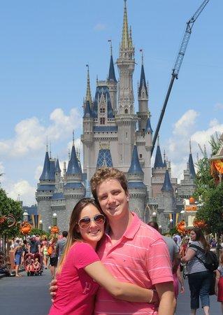 Magic Kingdom : Ao fundo O Castelo
