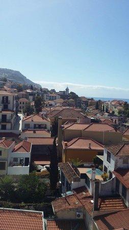 Téléphérique de Funchal : Vue de la montée en téléphérique