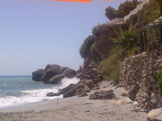 Papagayo Beach: Nerja, Costa del Sol.  Playa