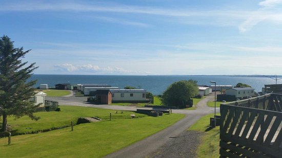 Auchenlarie Holiday Park: View from our caravan.