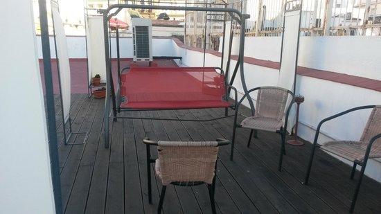 Pension Nuevo Pino: Nice terrace