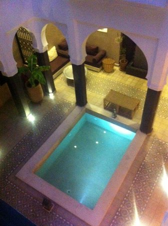 Riad Alnadine : View from the upstairs balcony