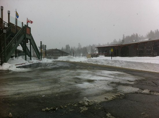 Mammoth Mountain Inn: A view of the parking lot