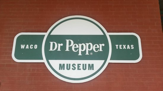 Dr Pepper Museum : Museum entry sign