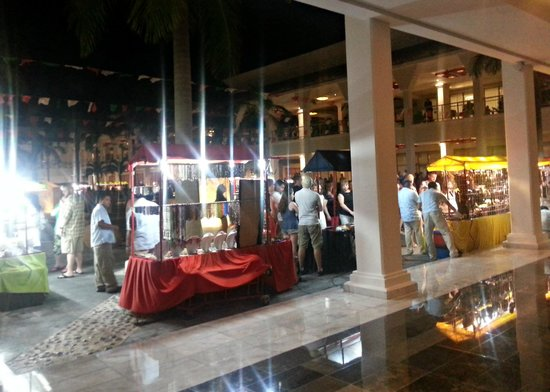 Grand Riviera Princess All Suites Resort & Spa: Marketplace set up at the resort one evening