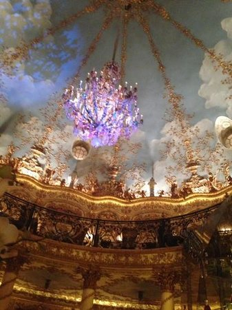 ceiling of turandot. view from first floor