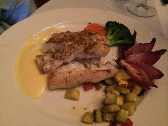 The Restaurant at Convict Lake: the halibut special