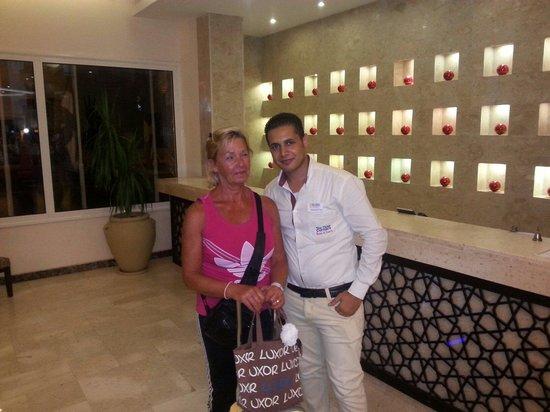 The Three Corners Royal Star Beach Resort: Mohamed best receptionist :)