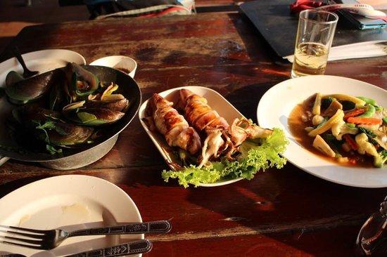 Pupen Seafood: 食べた料理の一部