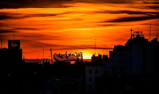 Círculo de Bellas Artes: Sunset over Madrid viewed Bellas Artes Tower - Madrid Spain