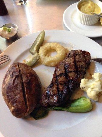 Earl & Angelo's: The Earls - NY Striploin and baked potato