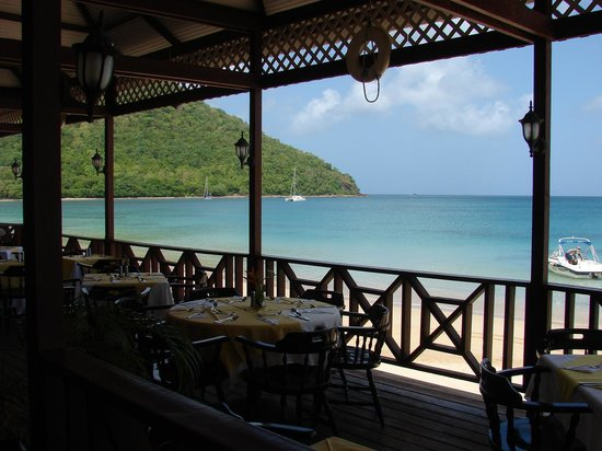 St. Lucian by Rex Resorts: View from the dining room