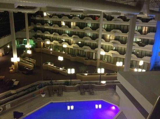 Holiday Inn Evansville Airport Hotel Room Overlooking Pool Area