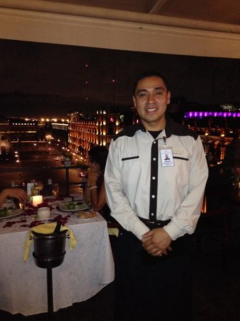 Gran Hotel Ciudad de Mexico: My server Adan at the Gran Hotel