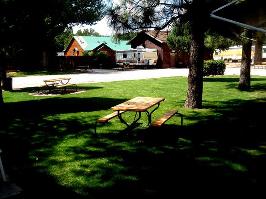 Red Ledge RV Park & Campground: grass area to set up tents