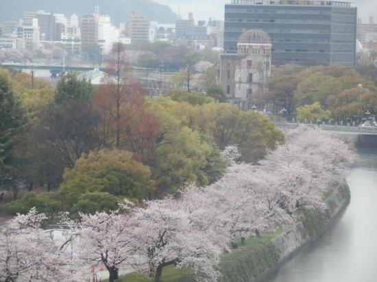 Hotel Sunroute Hiroshima : 桜がきれいに