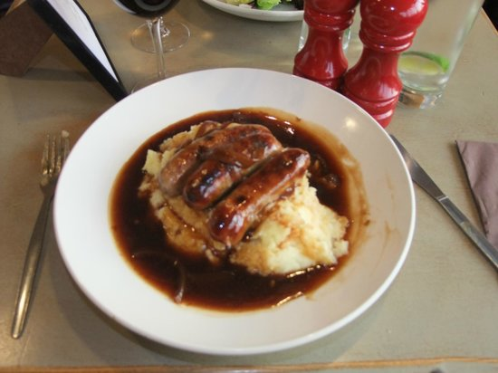 The Founder's Arms : Bangers and Mash