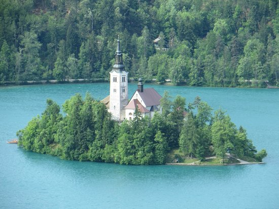 Park Hotel Bled: View of Island from 5th floor veranda