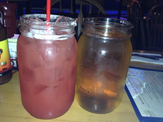 F.McLintocks Saloon: Strawberry $3.25 beer $5