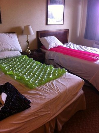 The INN at St.George: this was our solution to the hardest beds i have ever slept on.