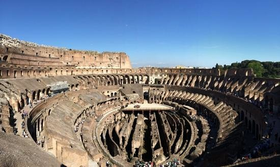 Through Eternity - Day Tour: view from the top level of the Colosseum- exclusive to our tour.