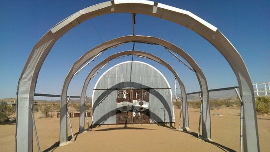 Outdoor Desert Art Museum of Assemblage Sculpture: one of many...