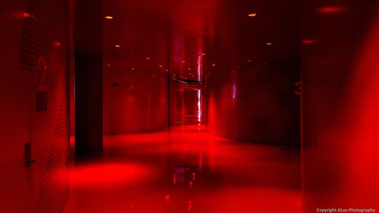 Seattle Public Library: The red hallway