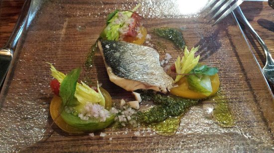 Crab & Boar: gorgeous fish starter from the daily specials board