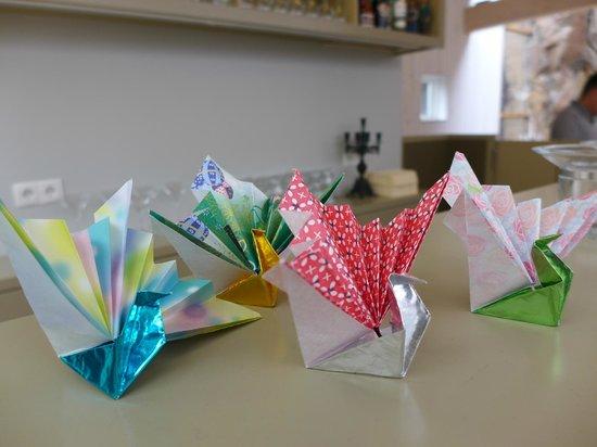 The Settlement Center: paper fold cranes