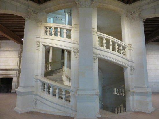 Château de Chambord : double staircase