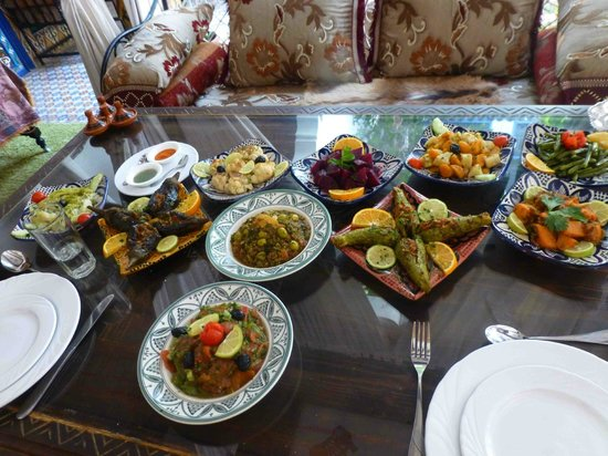 Riad Maryam Restaurant : la table des légumes