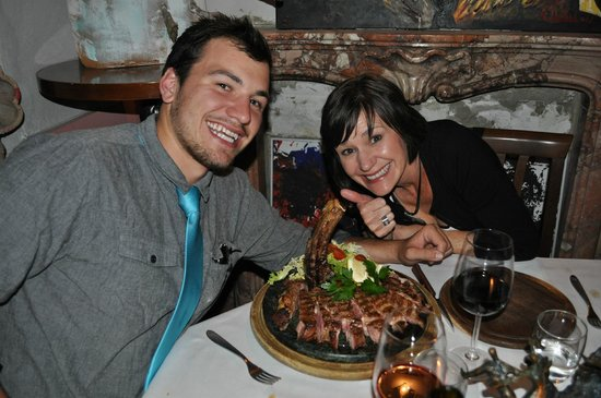 Enjoying the florentine steak picture of la cucina - La cucina del garga ...